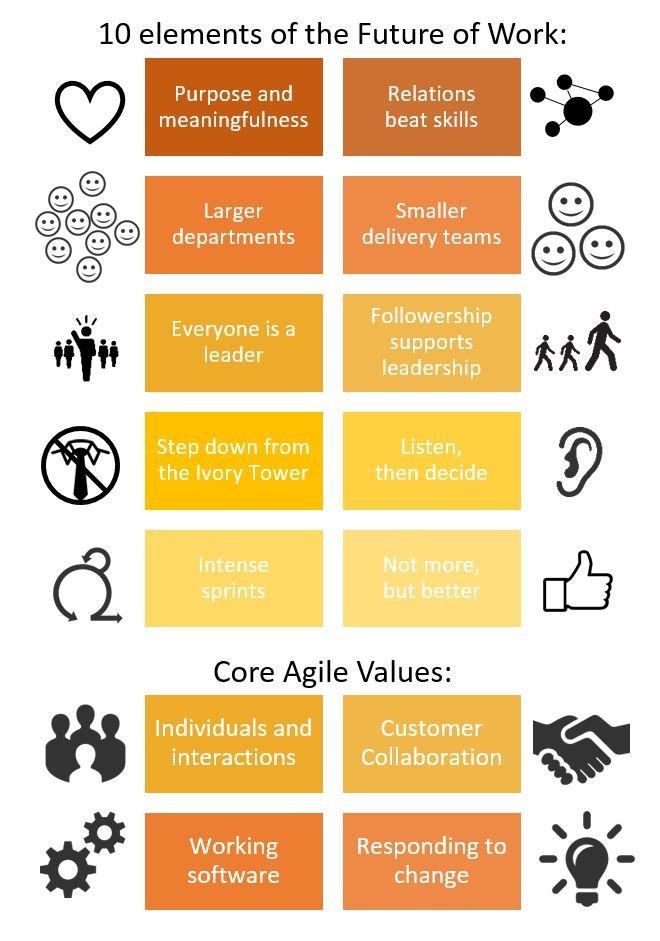 FoW and Agile Leadership infografic
