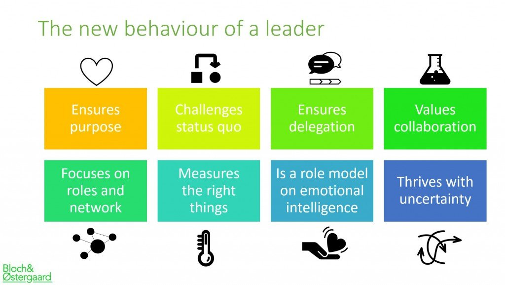 the new behaviour of a leader