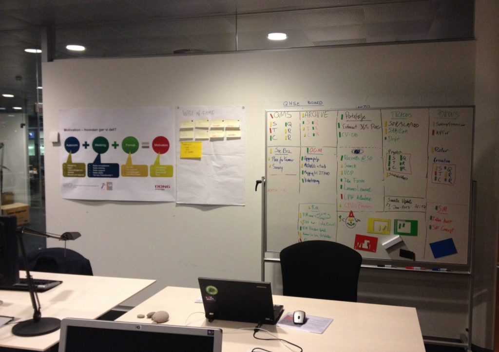my desk at DONG Energy Wind Power